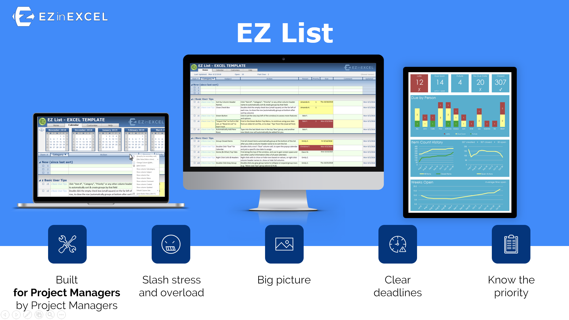 EZ List - Presenting the new easy list by EZ in Excel